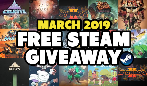 March Steam Key Givaway now Open
