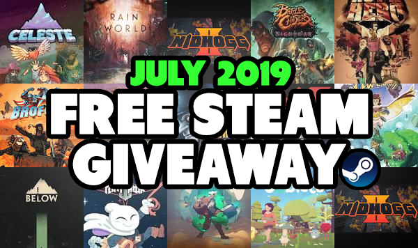July Steam Key Giveaway is Now Open!