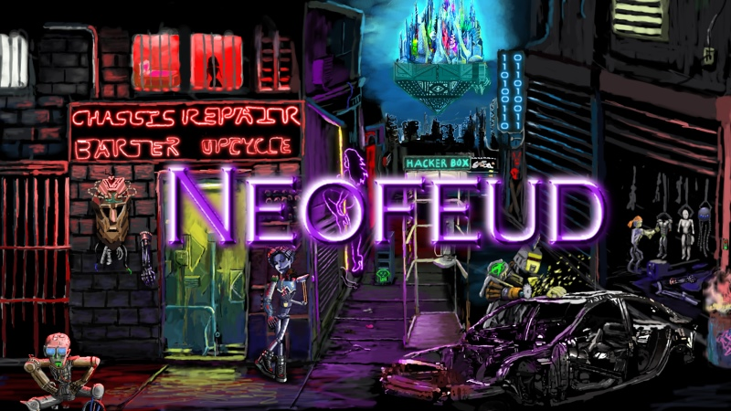 Neofeud – A Dystopic Cyberpunk adventure – REVIEW