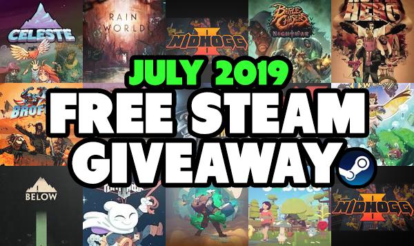 July Steam Key Giveaway is Now Open!